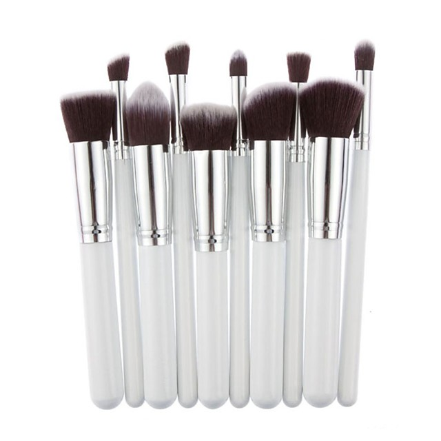 Professional Makeup Brushes Makeup Brush Set 10pcs Professional Synthetic Hair Wooden / Bamboo for Eyeliner Brush Blush Brush Foundation Brush Lip Brush Eyebrow Brush Eyeshadow Brush Concealer Brush
