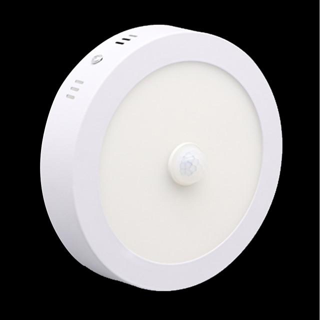 ZDM 6W Round Human Body Induction Light Radar Motion Sensor Infrared LED Downlight Warm White / Cold White AC85-265V
