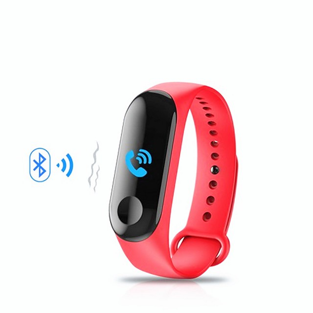M3 Smart Wristband Bluetooth Fitness Tracker Support Notification/ Heart Rate Monitor Sports Waterproof Smartwatch for iPhone/ Samsung/ Android Phones
