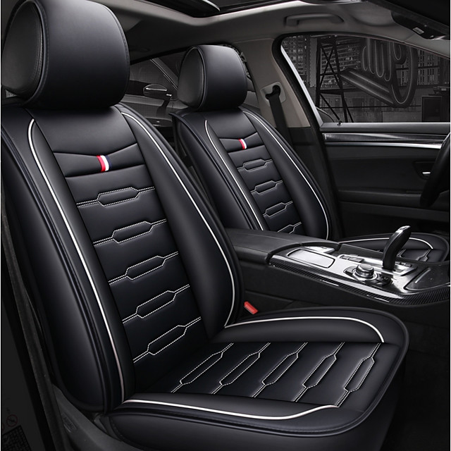 ODEER Car Seat Covers Seat Covers Black / White Textile / leatherette Common For universal All years All Models