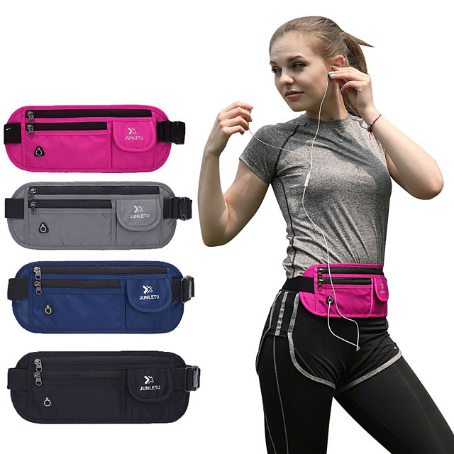 Running Belt Fanny Pack Waist Bag / Waist pack for Running Marathon Bike / Bicycle Travel Sports Bag Lightweight Rain Waterproof Quick Dry Minimalist Nylon Running Bag / iPhone X / iPhone XS Max