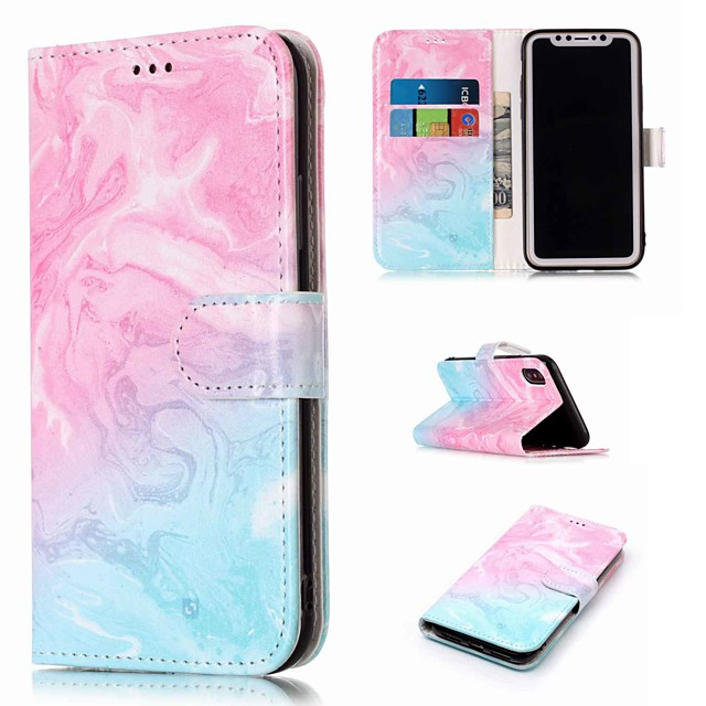 Case For Apple iPhone XS / iPhone XR / iPhone XS Max Wallet / Card Holder / with Stand Full Body Cases Marble Hard PU Leather