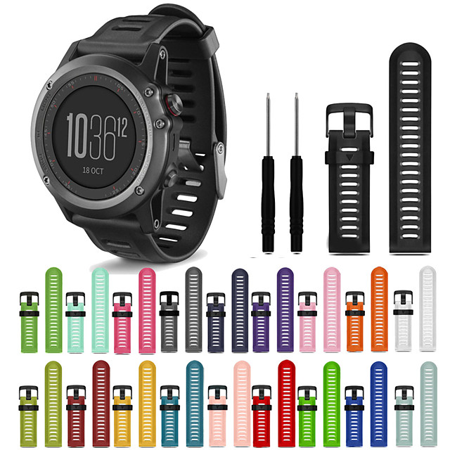 Watch Band for Fenix 3 HR / Fenix 3 Sapphire / Fenix 3 Garmin Sport Band Silicone Wrist Strap