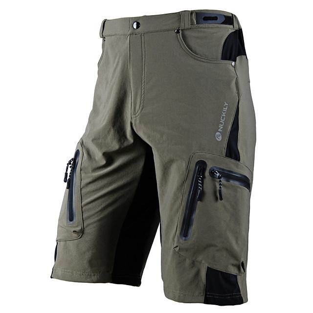 Nuckily Erkek MTB Şortları Likra Bisiklet Şort MTB Şortları Pantolonlar Su Geçirmez Nefes Alabilir Hızlı Kuruma Spor Dalları Siyah / Ordu Yeşili / Haki Dağ Bisikletçiliği Yol Bisikletçiliği Giyim