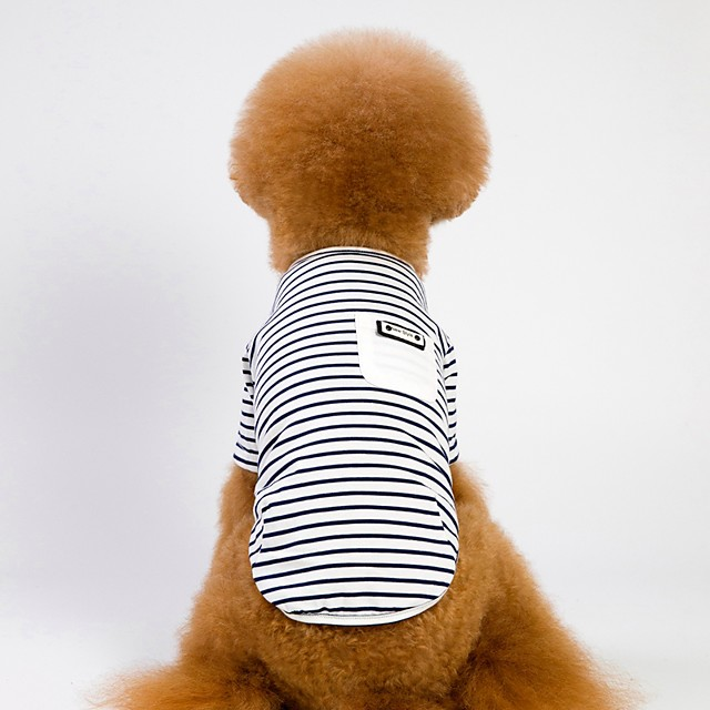 Dog Cat T-shirts Striped Sports & Outdoors Casual / Daily Outdoor Dog Clothes White Pink Costume Cotton Fabric S M L XL XXL