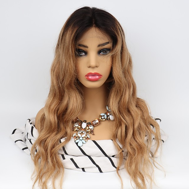 Unprocessed Human Hair Lace Front Wig Middle Part Wendy style Brazilian Hair Body Wave Wig 130% Density with Baby Hair Easy dressing Natural Hairline 100% Virgin Unprocessed Women's Long Human Hair