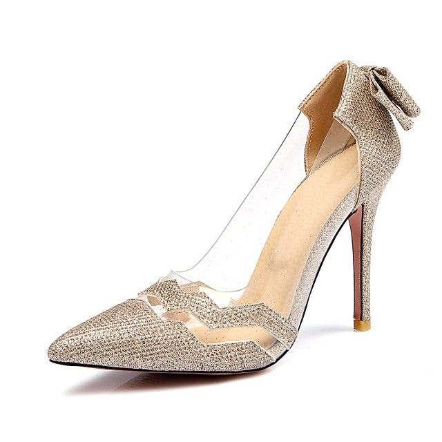 Women's Heels Pumps Stiletto Heel Pointed Toe Patent Leather Spring & Summer Gold / Black / Silver / Wedding / Party & Evening / Party & Evening