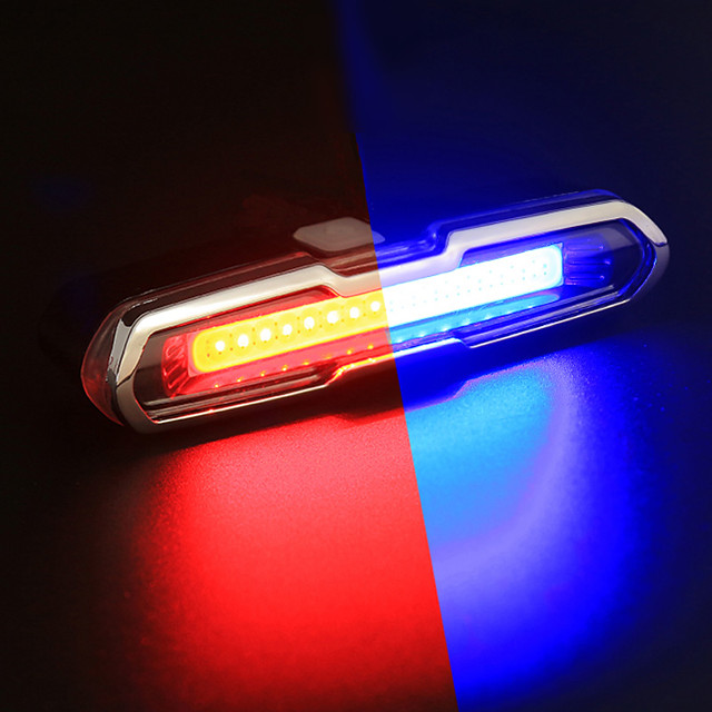 LED Bike Light Rear Bike Tail Light Safety Light Tail Light Mountain Bike MTB Bicycle Cycling Waterproof Portable Alarm Color Gradient Rechargeable Li-Ion Battery USB 150 lm Change Cycling / Bike