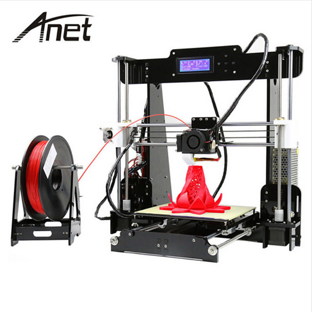 Freeshipping Anet A8 High Precision High Quality FDM Desktop DIY 3D Printer(Assembly instructions in SD card)