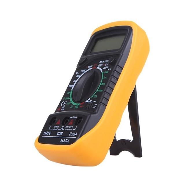 Hot sale Digital multimeter xl830l voltmeter ammeter multimeter AC DC volt ohm tester LCD test current overload protect