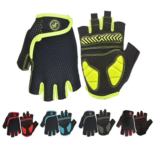 Bike Gloves / Cycling Gloves Mountain Bike Gloves Mountain Bike MTB Road Bike Cycling Anti-Slip Breathable Shockproof Sweat wicking Fingerless Gloves Half Finger Sports Gloves Terry Cloth Silica Gel