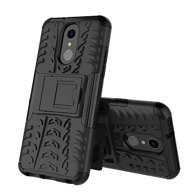 Case For LG LG Q7 with Stand Back Cover Armor Hard PC
