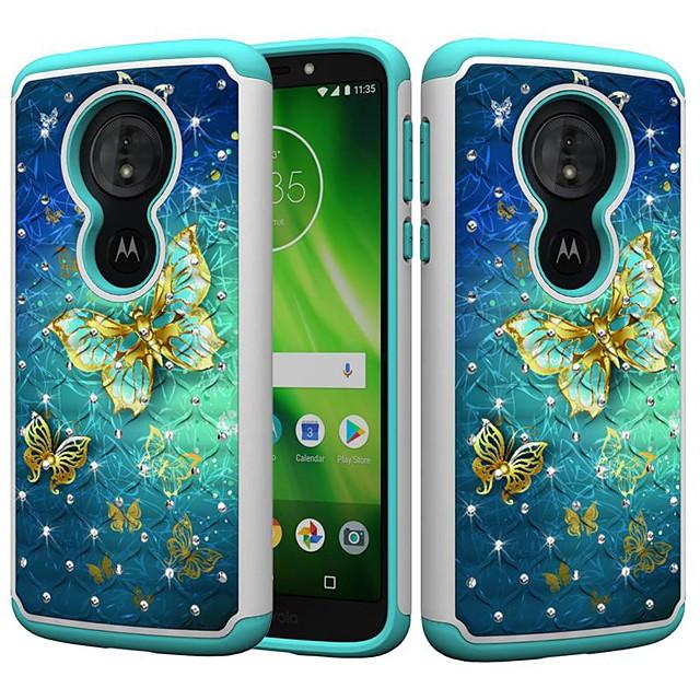 Case For Motorola MOTO G6 / Moto G6 Play / Moto E5 Play Shockproof / Rhinestone / Pattern Back Cover Butterfly / Rhinestone Hard PC