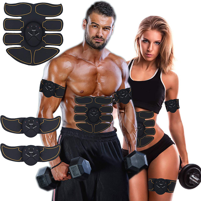 Abs Stimulator Abdominal Toning Belt EMS Abs Trainer Smart Electronic Muscle Toner Muscle Toning Tummy Fat Burner Ultimate Training Exercise & Fitness Gym Workout Bodybuilding For Leg Abdomen Home