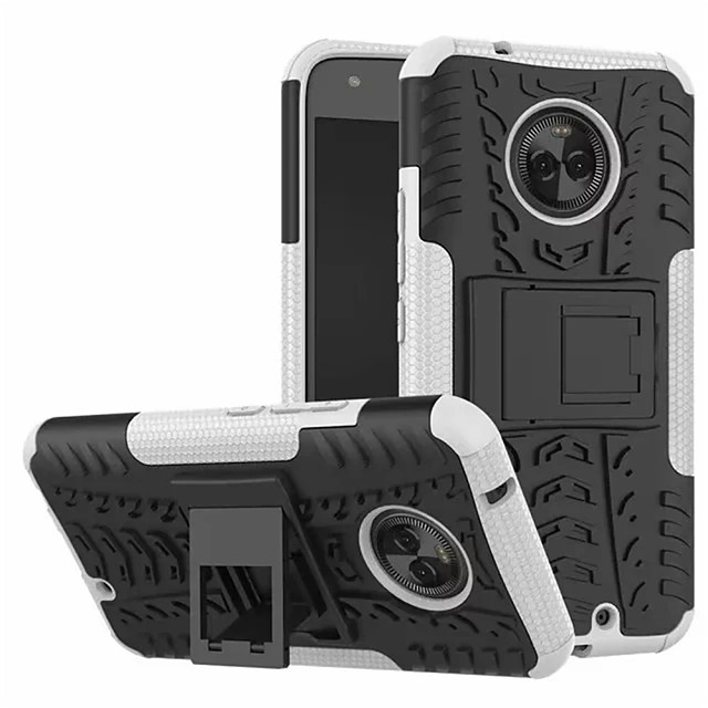 Case For Motorola Moto X4 with Stand Back Cover Armor Hard PC