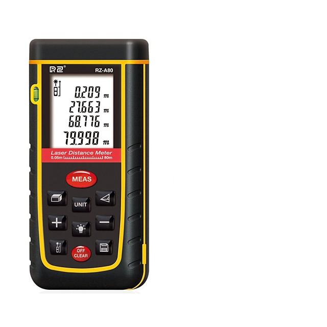 RZ-A Laser Distance Meter Rangefinder Range Finder 80m Electronic Ruler Digital Tape Measure Area volume Tool
