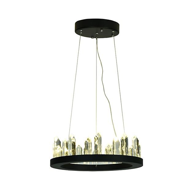 1-lagani kristalno prilagodljivi luster od metalnog kruga obojani završnim kristalno obojenim završnim dijelovima modernih 110-120v 220-240v