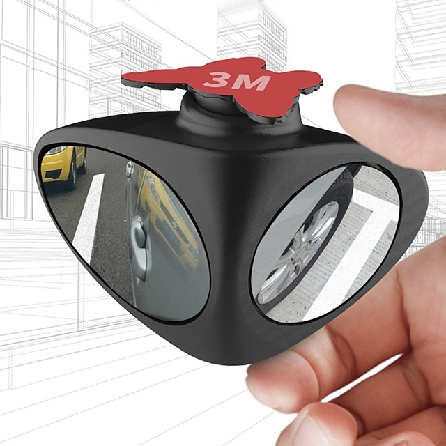 2 in 1 360 Degree Rotation Double Sided Blind Spot Mirror Reversing Parking Auxiliary Car Rear View Mirror