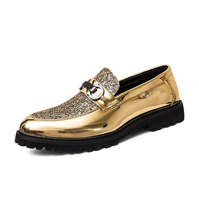 Men's Dress Shoes Patent Leather Spring / Fall British Sneakers Non-slipping Black / Gold / Silver / Party & Evening / Party & Evening