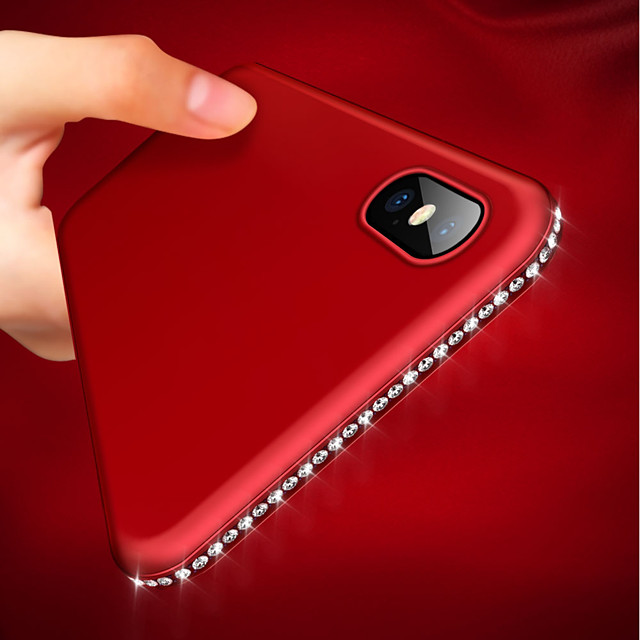 Case For Apple iPhone XS / iPhone XR / iPhone XS Max Ultra-thin / Frosted Back Cover Glitter Shine / Rhinestone Soft TPU