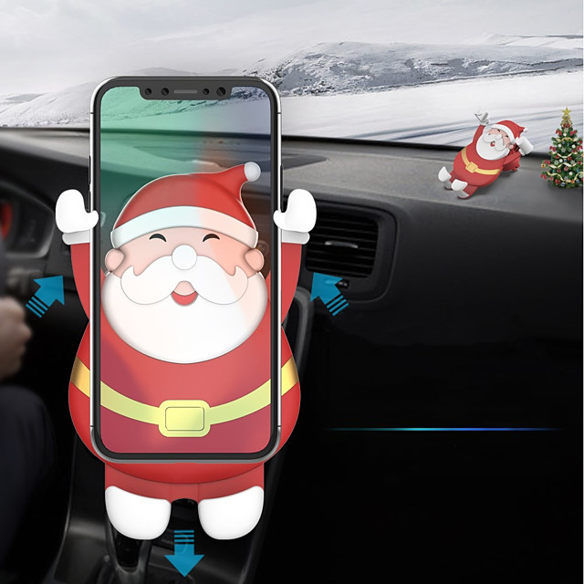 Lenuo Santa Claus Christmas Car Phone Gravity Bracket , Univeral Cell Phone Car Phone Mount Holder