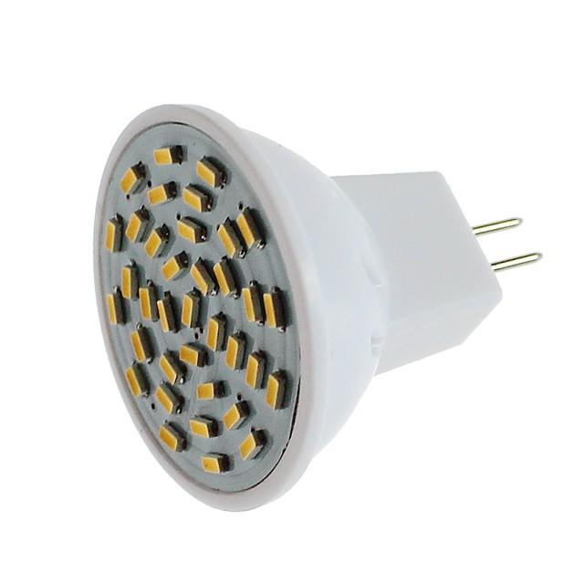 1pc 3 W LED-spotlys 600 lm G4 MR11 36 LED Perler SMD 3014 Dekorativ Varm hvid Kold hvid 12 V / 1 stk. / RoHs