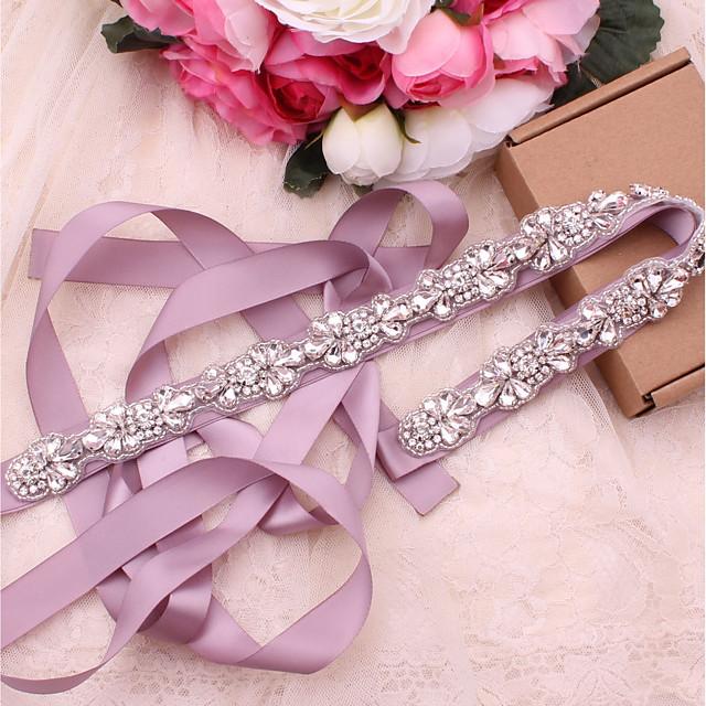 Saten / til Vjenčanje / Special Occasion Pojas S Kristali / Rhinestones Žene Pojasi