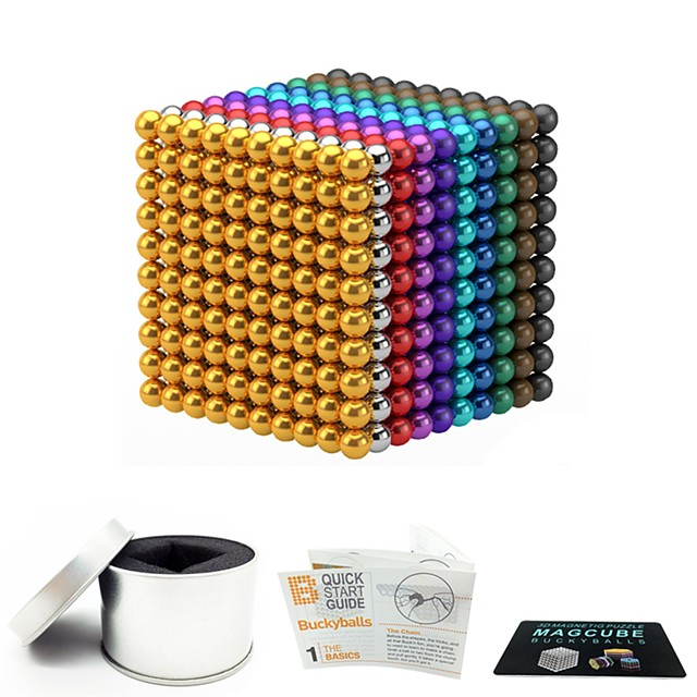 1000 pcs 3mm 5mm Magnet Toy Magnetic Balls Building Blocks Super Strong Rare-Earth Magnets Neodymium Magnet Magnet Toy Magnetic Stress and Anxiety Relief Office Desk Toys Relieves ADD, ADHD, Anxiety