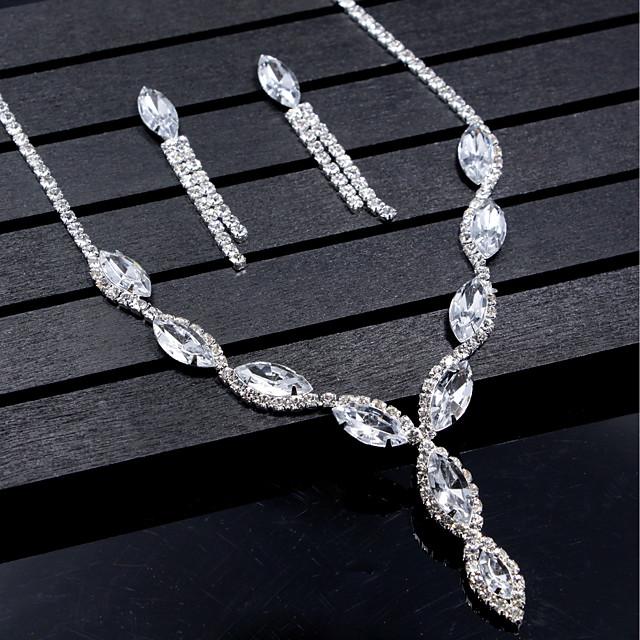 בגדי ריקוד נשים סטי תכשיטי כלה פרנזים אלגנטית טרנדי עגילים תכשיטים לבן עבור חתונה Party 1set