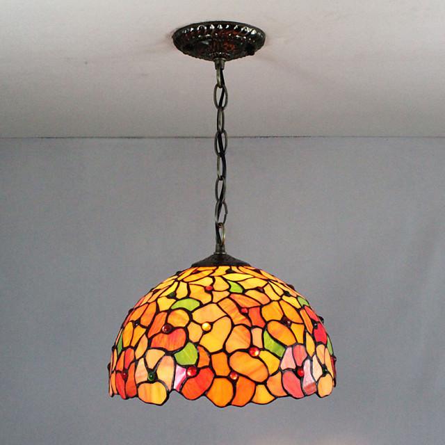 30 cm Višebojno sjenilo / Kreativan Privjesak Svjetla Glass Glass sputnjik Slikano završi Tiffany 110-120V / 220-240V