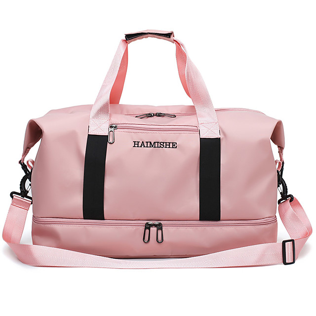Women's Large Capacity Waterproof Oxford Cloth Travel Bag Gym Bag Zipper Solid Color Sports & Outdoor Daily Outdoor Handbags Black Red Pink Gray