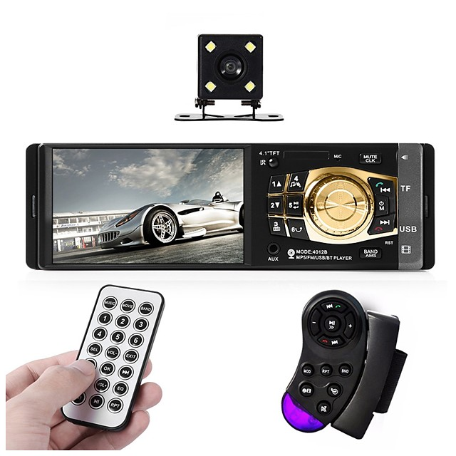 4032B Car Radio Player Auto 4.1 Screen Bluetooth HD USB Video Mp5 Player For Stereo Music With Rear view Camera