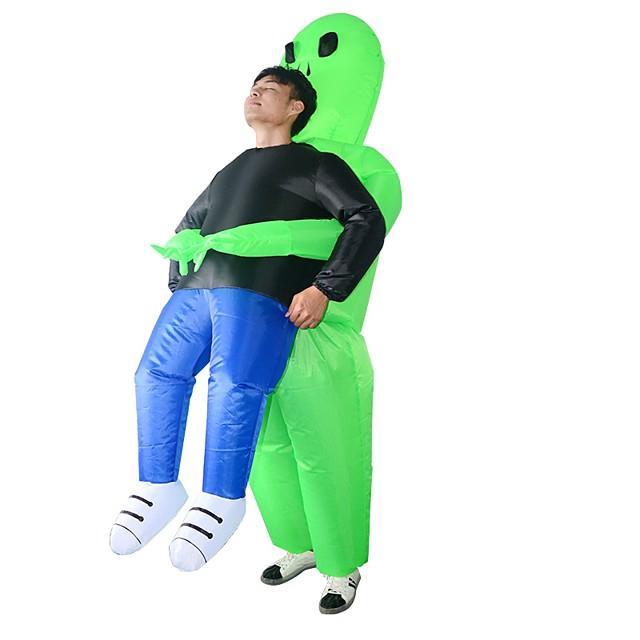Ghost Kostim Tinejdžer Odrasli Muškarci Smiješno & Nerado Halloween Halloween Festival / Praznik Tekstil Zelen Karneval kostime Crtani film Halloween