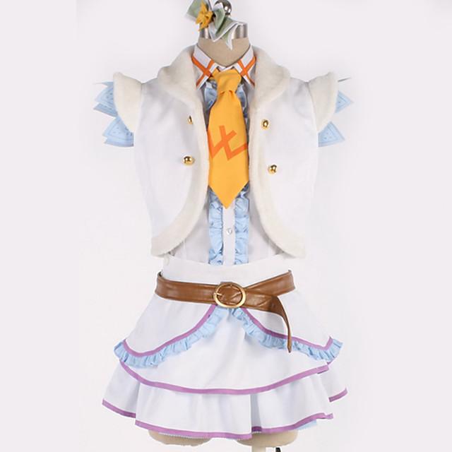 Zainspirowany przez Love Live Cosplay Anime Kostiumy cosplay Japoński Garnitury cosplay Solidne kolory Płaszcz Sukienka Pas Na Męskie Damskie / Łuk / Więcej akcesoriów / Krawat / Łuk