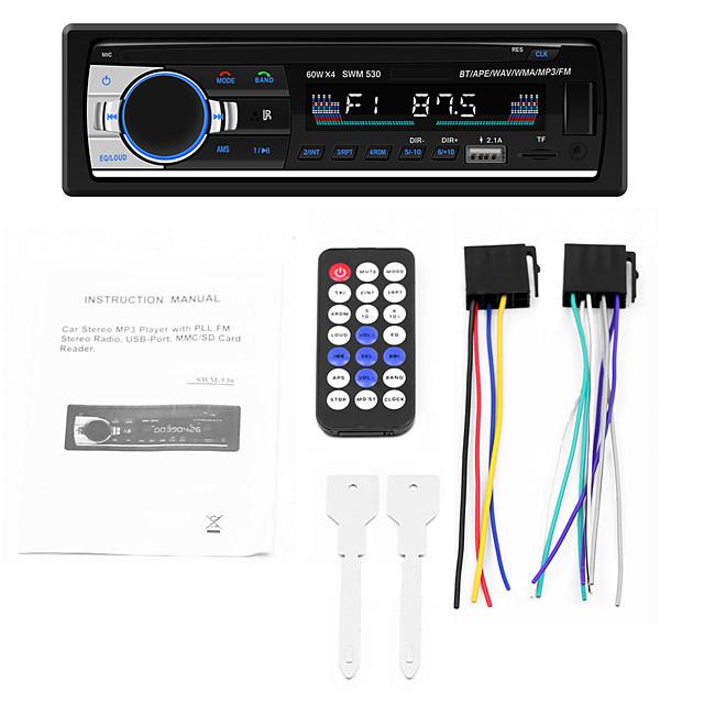 1 DIN 530 Car MP3 Music Player Radio In Dash Bluetooth 4.0 Dual USB AUX Head Unit with Remote Control 12V