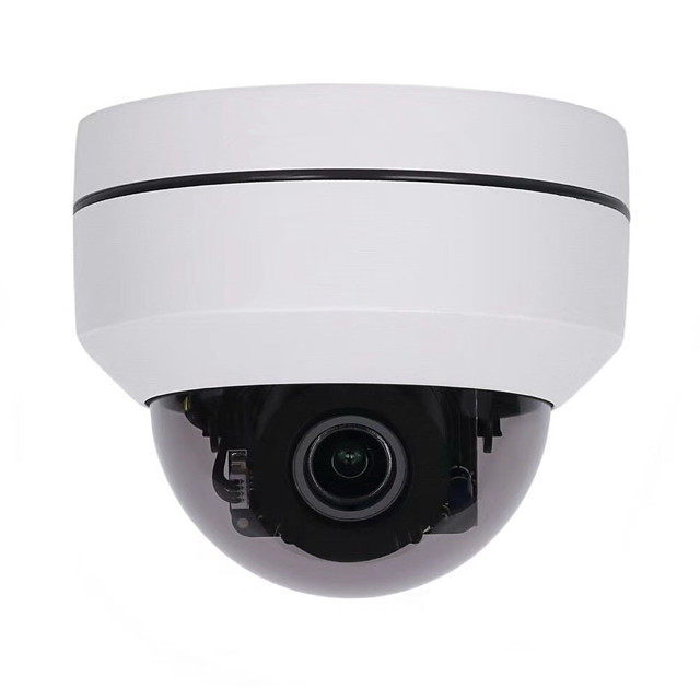 HD 1080P PTZ IP66 Outdoor Waterproof Security IP Dome Camera With 3X Optical Zoom Motorized Zoom Style for Celling Installation Support Multi-platform View