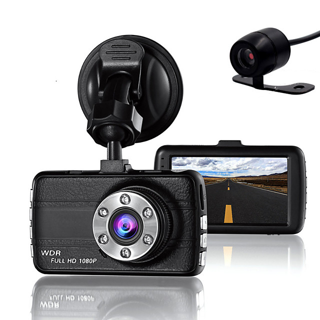 Double Lens Dash Cam Camera DVR Car for Drivers Full HD 1080 P Recorder Camera with Night Vision G-Sensor