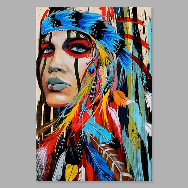 Peinture à l'huile Hang-peint Peint à la main - Abstrait ...