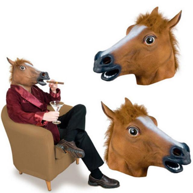 Cabeça de Cavalo Máscaras de Dia das Bruxas Artigos de Halloween Cavalo Terror Borracha Cola Adulto Homens Mulheres Brinquedos Dom 1 pcs