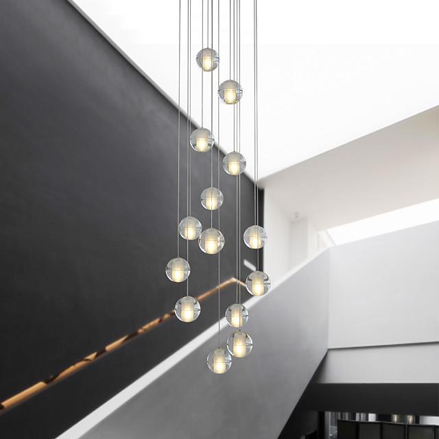 14 Bulbs 10 cm Crystal / Creative / Adjustable Chandelier Metal Crystal / Globe Electroplated Artistic / Modern 90-240V / Dimmable