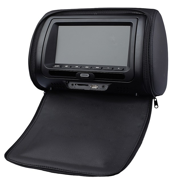 7 inch Windows CE Headrest DVD Player Games / SD / USB Support / IR Transmitter for universal Support / FM Transmitter / DVD-R / RW / DVD+R / RW / AVI / MPEG4