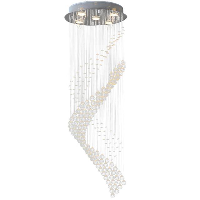 5-Light 40(15.75'') Crystal / LED Pendant Light Metal Electroplated Modern Contemporary 110-120V / 220-240V