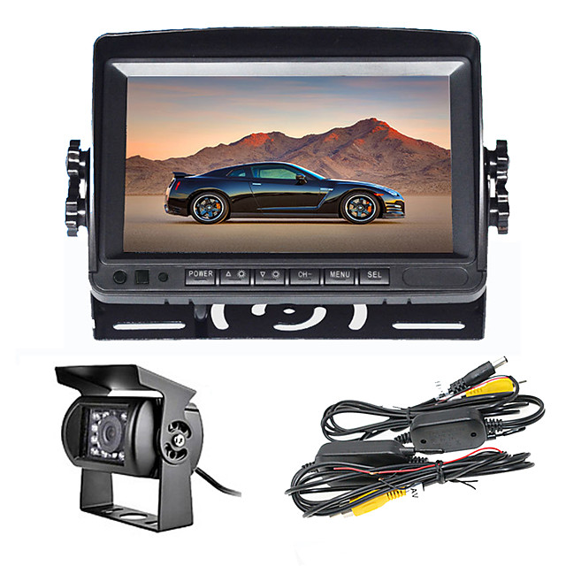 7 inch Car monitor Wireless Rear View Kit Waterproof Camera for Truck Bus Parking Rear view System