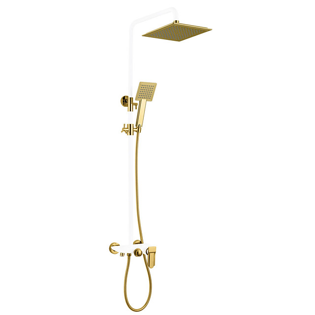 Shower System Set - Rainfall Antique Painted Finishes Wall Mounted Ceramic Valve Bath Shower Mixer Taps / Brass