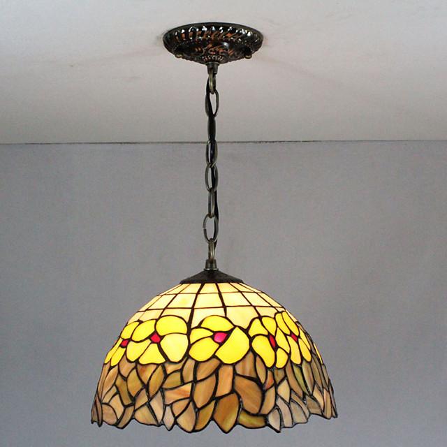 30 cm Višebojno sjenilo / Kreativan Privjesak Svjetla Glass Glass Slikano završi Tiffany 110-120V / 220-240V