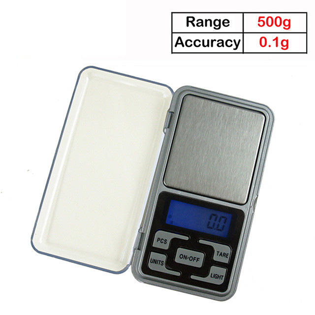 500g/0.1g Weigh Digital Kitchen Scales Jewelry Scales LCD Display Mini Electronic Scale Balance Pocket Scale Kitchen tools
