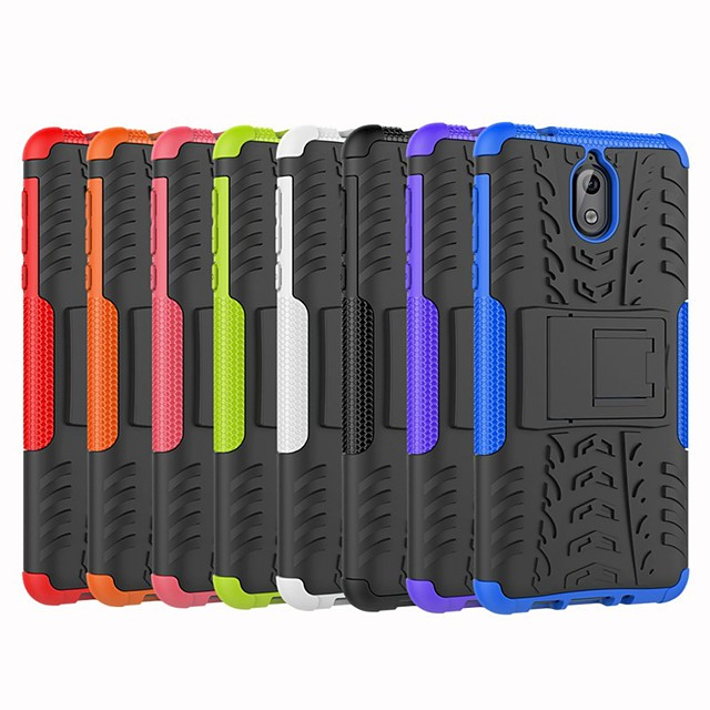 Case For Nokia Nokia 8 / Nokia 7.1 / Nokia 6 Shockproof / with Stand Back Cover Armor Hard PC