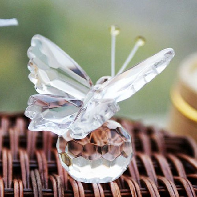 Glasses Flower Style / Love Coaster Favors - 1 pcs Piece/Set Friends / Butterfly All Seasons