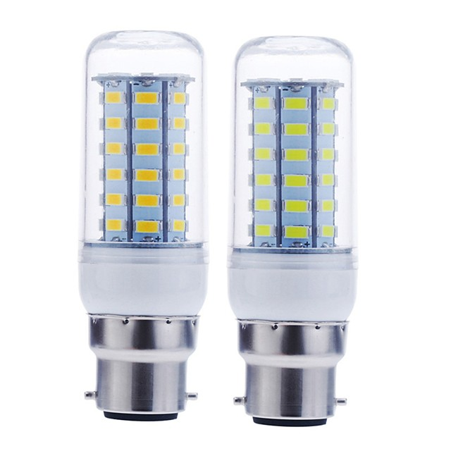 1pc 12 W LED-kornpærer 1600-1900 lm B22 56 LED perler SMD 5730 Dekorativ Varm hvit Kjølig hvit 220-240 V 110-130 V / RoHs