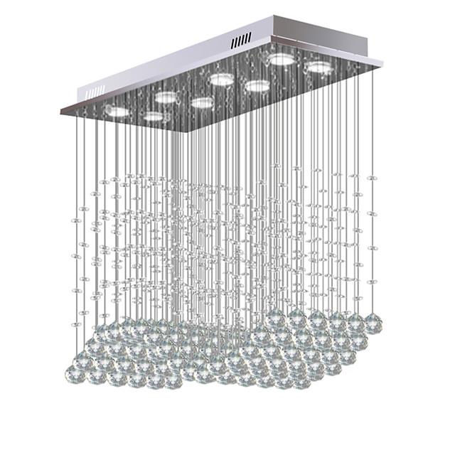 8-Light 30 cm Crystal / Bulb Included / Designers Chandelier Metal Crystal Electroplated Chic & Modern 110-120V / 220-240V / GU10